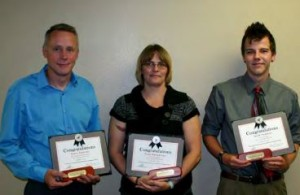 Photo by Judy Winkler 1st Annual Erhard Huettl WIA Awards of Excellence recipients pictured left to right: James Stanchik of Auburndale; Traci Dumpprope of Rhinelander; and Jacob Neathery of Rhinelander.